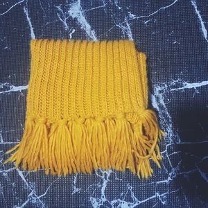 mustard yellow scarf